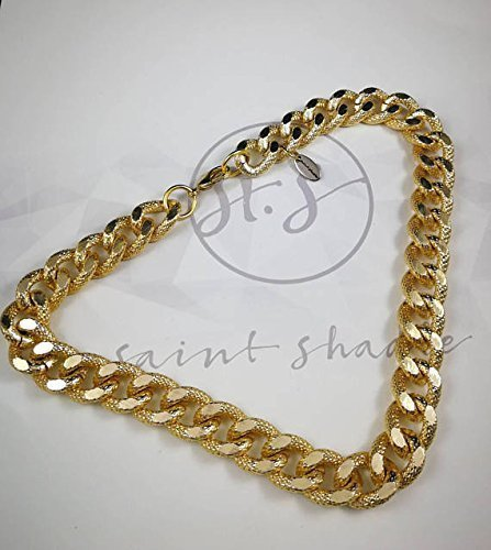Thick Gold Chain Choker Necklace