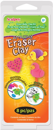 Sculpey Kit 1 Ounce 6/Pkg-Amazing Eraser Clay Colart K36130