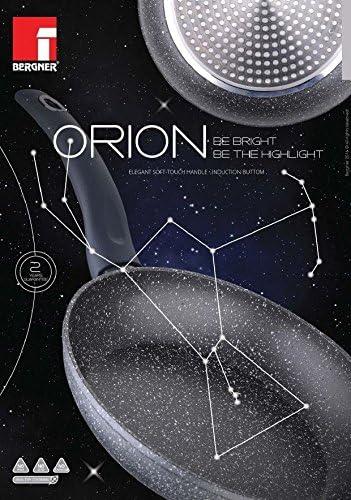 Bergner Orion Po/êle /à pancakes antiadh/ésive compatible avec l/'induction rev/êtement en marbre