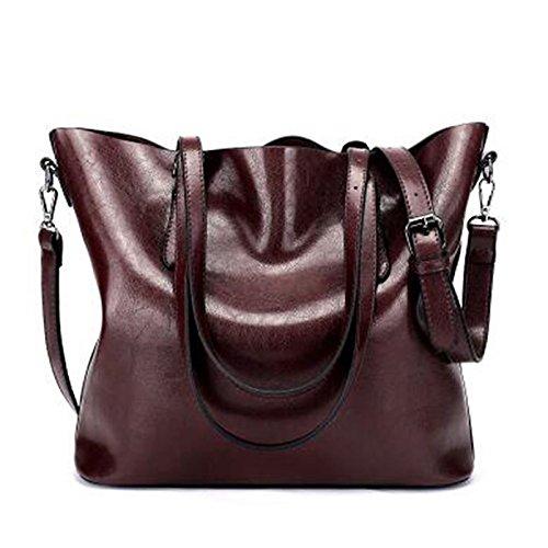 Wine Brown Gmyan Bags Bag Zipper Coffee Woman Coffee Shoulder Brown Pu wqxwC78BR