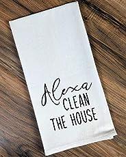 Alexa Clean The House Funny Flour Sack, Dish Kitchen Towel