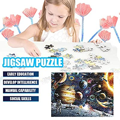 Veodhekai 1000 Pieces Jigsaw Puzzles for Adults Space Puzzle Astronaut Personalized Gift (Multicolor): Toys & Games