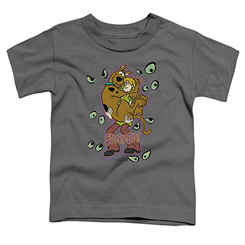 A&E Designs Kids Scooby Doo Being Watched Toddler Shirt, Charcoal, 4T]()