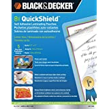 BLACK + DECKER QuickShield  Self-Adhesive Letter Size Laminating Pouches, 8-mil, 5 Pack (LET-5SS)