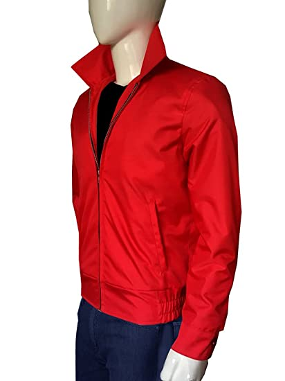 6336e7361 James Dean Rebel Without a Cause Jim Stark Red Cotton Men's Jacket ...