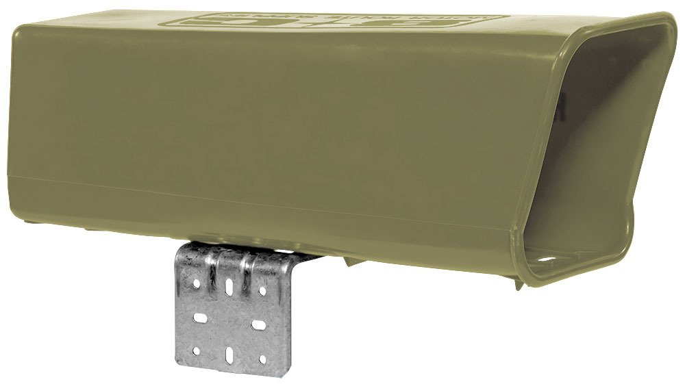Plastic Newspaper Delivery Tube Box Receptacle & Mounting Bracket, Tan