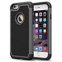 theMobileArea iPhone 6 6S Rugged Impact Heavy Duty Dual Layer Shock Proof Case Cover Skin - Gray
