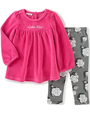 Baby Girls' Velour 2 Piece Tunic/Leggings Set