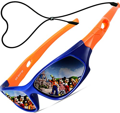 ATTCL Kids Hot TR90 Polarized Sports Sunglasses For Boys Girls Child Age 3-10 1P5025 orange bule