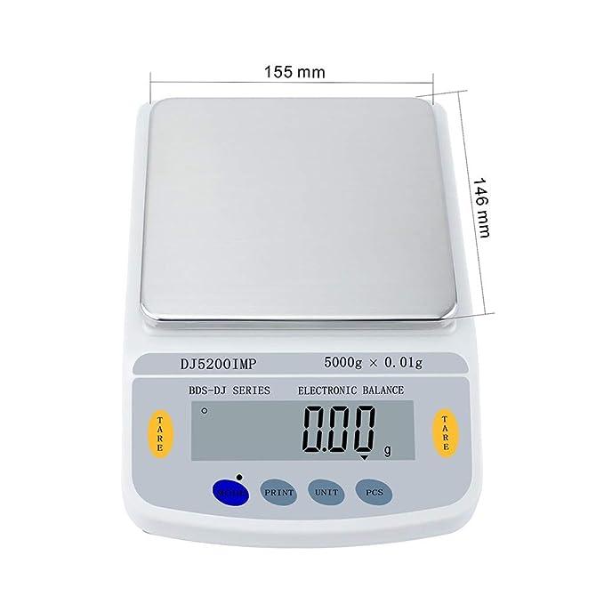 Báscula Digital Escala De La Joyería 5kg 0.01g Alta Precisión ...