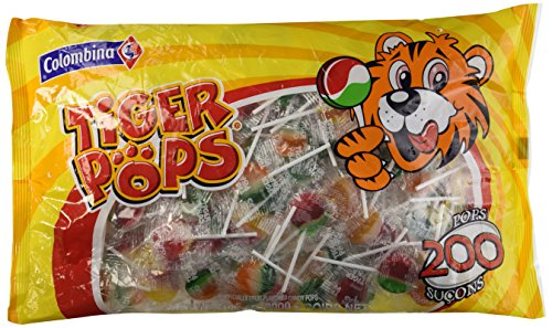 Tiger Pops Original Assorted Fruit Flavor - 200 Pops Bag (70.5 oz)