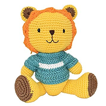 Childrens Hand Made Lion Knitted Soft Toy Free Delivery Amazon