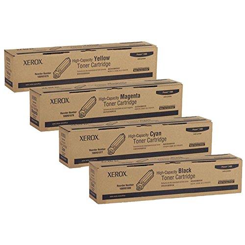 Compatible Xerox 106R01080, 106R01077, 106R01078, 106R01079 High Yield Toner Cartridge Set ()