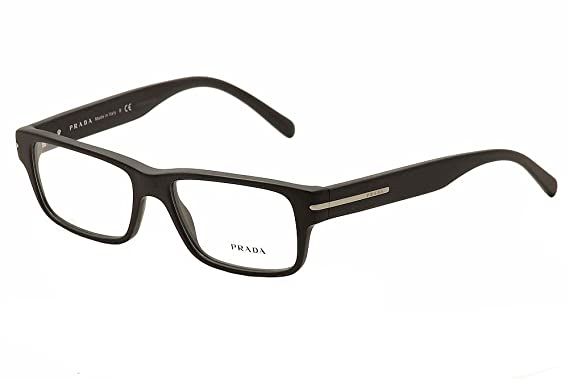 71d8520391fe Prada Eyeglasses PR22RV 1BO1O1 Matte Black 52 16 140 at Amazon Men's ...