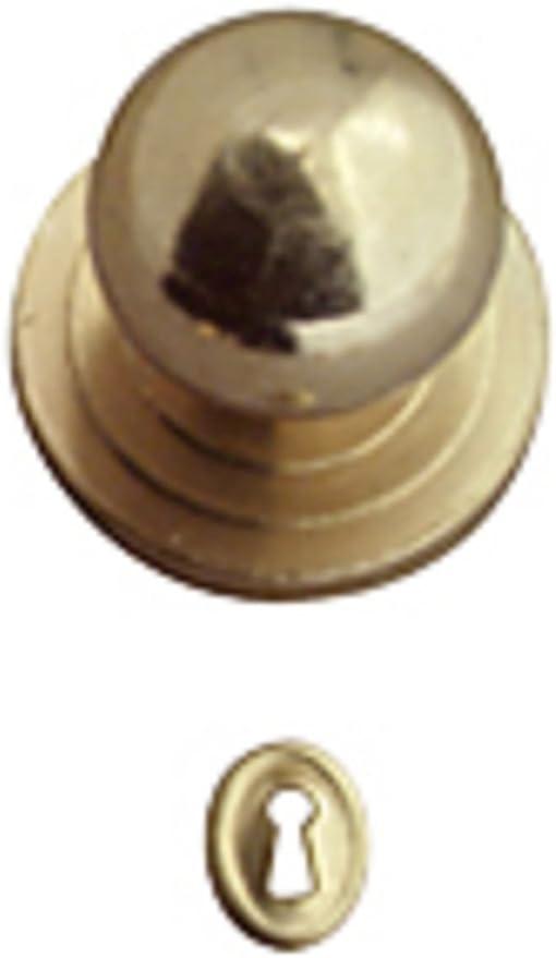 1//12 Scale 4 Dolls House Miniature Brass Handles Keys Set Door Knob Fittings