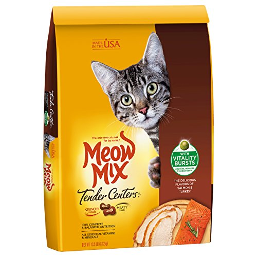 - Meow Mix Tender Centers, 13.5-Pound, Salmon & Turkey with Vitality Bursts