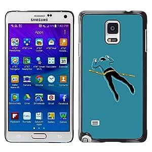 Be Good Phone Accessory // Dura Cáscara cubierta Protectora Caso Carcasa Funda de Protección para Samsung Galaxy Note 4 SM-N910 // Funny Crime Scene Body