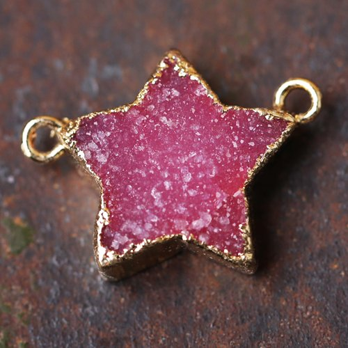 (Moms Druzy Pendant -Stone Raw Gemstone Stars Jewelry Healing Crystals and Stones Pendant for)