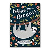 Orange Circle Studio 2019 Monthly Pocket Planner, August 2018 - December 2019, Follow Your Dreams Sloth