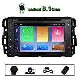Car DVD Radio Chevrolet GMC Silverado Acadia Avalanche Express Buick Enclave Chevy 1500 Hummer H2 2008 2009 Quad Core 2+32GB Split Screen Multimedia GPS Stereo Android 8.1 Subwoofer Navigation