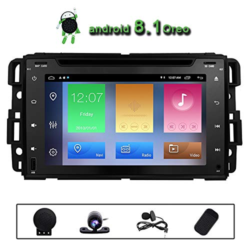 Car DVD Radio Chevrolet GMC Silverado Acadia Avalanche Express Buick Enclave Chevy 1500 Hummer H2 2008 2009 Quad Core 2+32GB Split Screen Multimedia GPS Stereo Android 8.1 Subwoofer Navigation ()