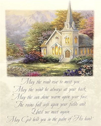 Unframed Print May GOD Hold You in The Palm of HIS Hand, (Religious/Serenity Church/Prayer / 9-810-J) 8x10 Inch Nicky BOEHME, Art Print & Poster -