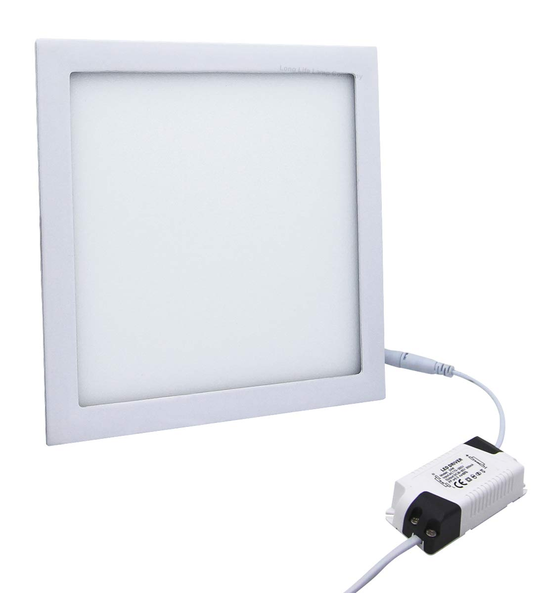 24w LED Square Recessed Ceiling Flat Panel Down Light Ultra Slim Lamp Cool White 7000K Super Bright 300mm x 300mm [Energy Class A+] Long Life Lamp Company