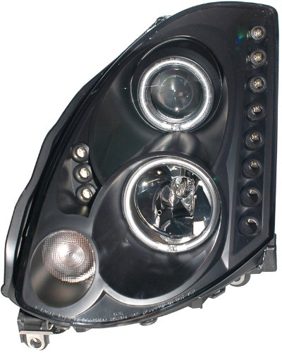 03-05 G35 2DR BLACK LED CCFL HALO PROJECTOR HEADLIGHTS 04 (SOLD IN PAIRS)