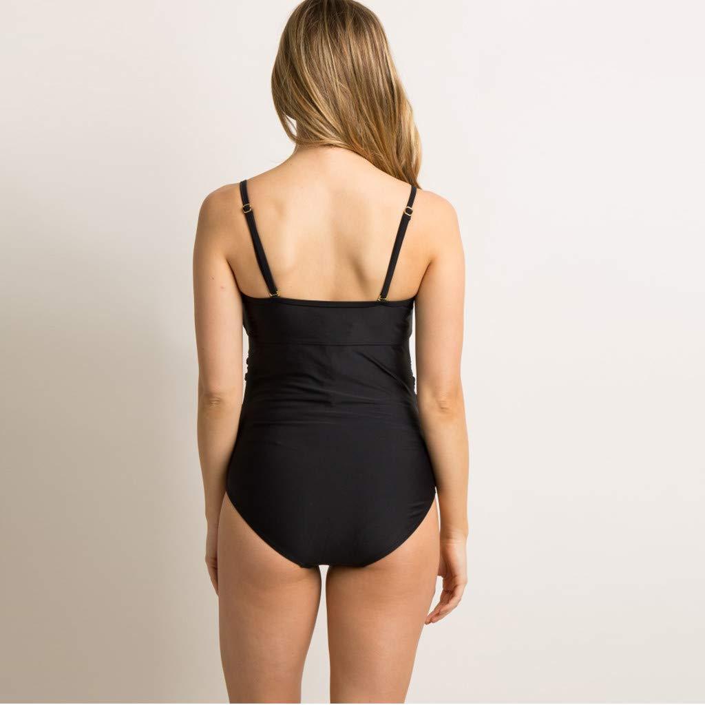 Solike Damen Schwangerschafts Bademode Push Up Umstandstankini Mutterschaft Badeanzug Mama Bikini Umstandsbademode