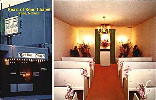 Heart Of Reno Wedding Chapel Reno Nevada Original Vintage Postcard