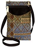 quilted diamond iphone case - Danny K Women's Tapestry Crossbody Cell Phone or Passport Purse, Handmade in USA