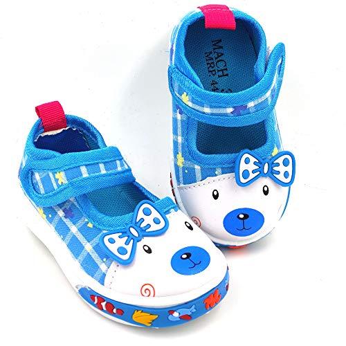 Urbanfeet Chu chu Sound Walking Cute Puppy Cartoon Shoes for Baby Girls   Age Group 12-24 Months   Royal Blue & Pink
