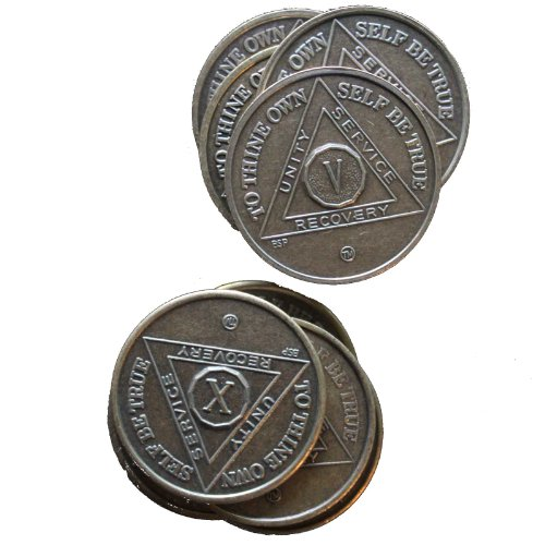 Bronze Anniversary/Birthday AA Medallions Years 1-10 (Set of 10) By BSP Commemorative