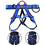Climbing Harness Safe Seat Belt, UCEC for Fire Rescue, High Altitude Rock Climbing, Rappelling Equipment, Half Body Guard Protect, pack of 1(blue)
