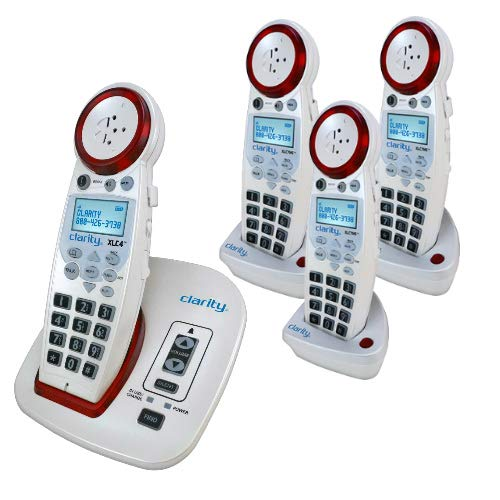 Clarity XLC4 Amplified Cordless Phone Bundle with (3) XLC7HS