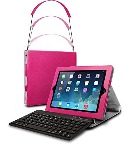 Cq Poker Zip Line Folio Case with Bluetooth Keyboard for ...