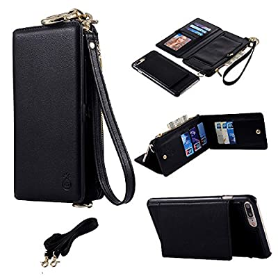 NiNE CiF for iPhone 7 Case Wallet/ iPhone 8 Wallet Case Magnetic Detachable Leather Folio Flip Cover Case with Card Holder Pocket