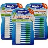 Wisdom WIS6565 Medium Green Clean Between Interdental Brushes - Pack of 3, Total 60