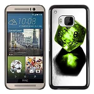 Smartphone Rígido Protección única Imagen Carcasa Funda Tapa Skin Case Para HTC One M9 Design Dice / STRONG