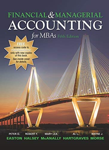 Download Financial and Managerial Accounting for MBAs 5th Edition ebook