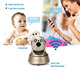 Wireless Security Camera Wifi IP HD 960P Camera Indoor Security Surveillance with Pan /Tilt Two Way Audio and Night Vision for Baby /Pet Monitor( (Gold)