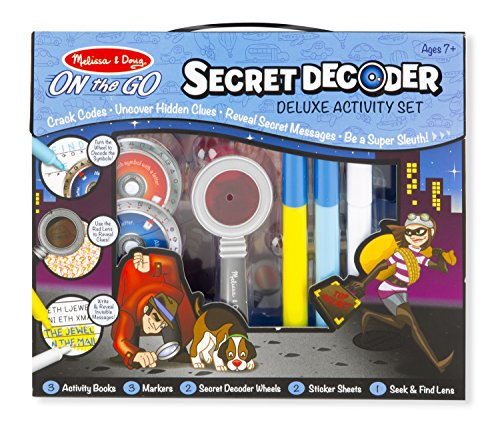 Melissa & Doug On the Go Secret Decoder Deluxe Activity Set and...