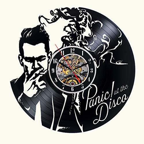 Panic! at The Disco Vinyl Wall Clock 12 in Black Decor Modern Decorative Vinyl Record Wall Clock Unique Gift to Your Friends and Family for Any Occasion