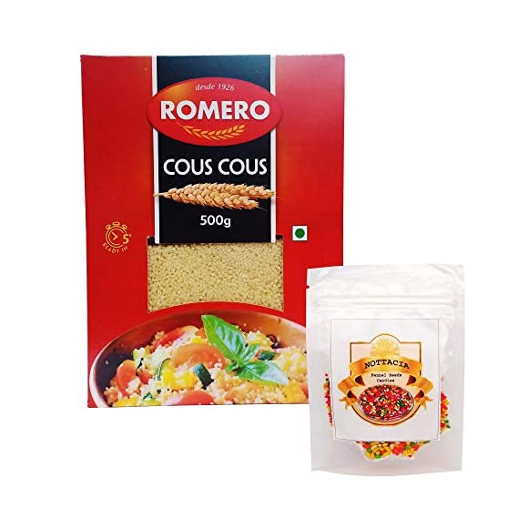 Nottacia Fennel Seeds 50g with Romero Cous Cous, 500g