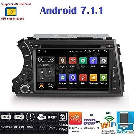 Android 7.1 4G LTE GPS DVD USB SD Wifi Bluetooth Radio 2 Din navegador SsangYong Kyron/SSangYong Actyon: Amazon.es: Electrónica