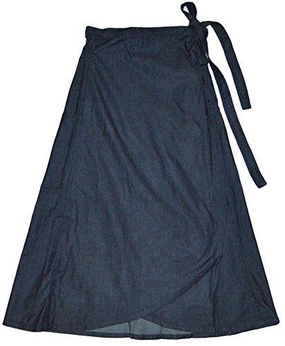 - GAP Womens Dark Blue Denim 1969 Wrap Midi Skirt XS
