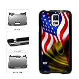 BleuReign(TM) Romania And USA Mixed Flag Plastic Phone Case Back Cover Samsung Galaxy S5 I9600