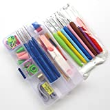 Chenkou Craft 16 Different Sizes Crochet Hooks Needles Knitting Crochet Kit Stitches Craft Case Crochet Set