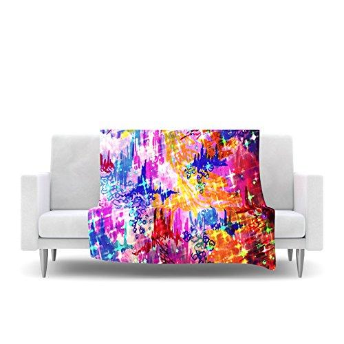 Kess InHouse EBI Emporium Sky Risers Glam Pink Fleece Throw Blanket, 80 by 60'