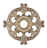 Livex Lighting 8216-65 Ceiling Medallion, Hand Painted Vintage Gold Leaf
